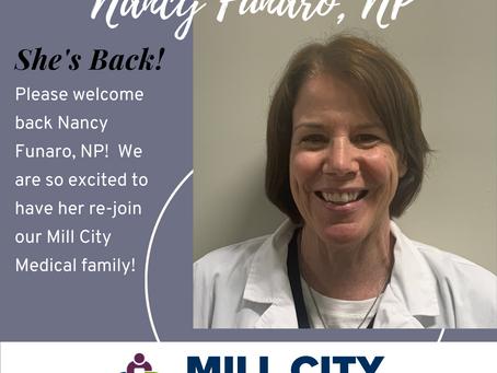 Welcome Back to Nancy Funaro, NP!