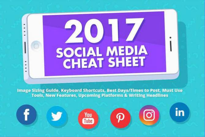 De Social Media Cheat Sheet 2017!