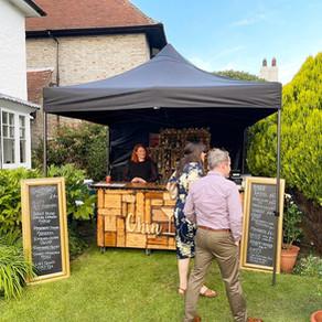 Oliver & Soafia's Garden Wedding   Chin Chin Wine Box Bar   Eastbourne, East Sussex