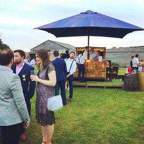 Chin Chin Caravan Bar at Gregory & Abigail's Tipi Wedding at Rye Farm in Henfield, West Suss