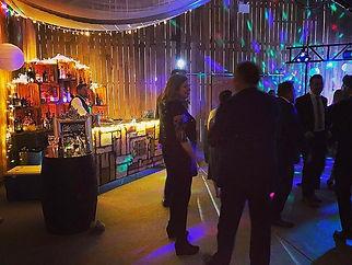 Chin Chin Wine Box Bar & wedding guests