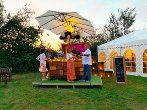 Broadhembury Holiday Park 50th Anniversary Party | Chin Chin Caravan Bar & Wine Box Bar in Ashfo