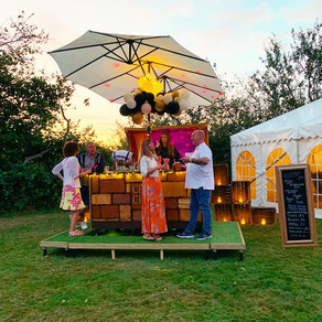 Broadhembury Holiday Park 50th Anniversary Party | Chin Chin Caravan Bar & Wine Box Bar in Ashfo