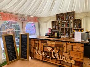 Mel's 50th Birthday Party   Chin Chin Wine Box Bar in Chatham, Kent