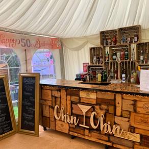 Mel's 50th Birthday Party | Chin Chin Wine Box Bar in Chatham, Kent