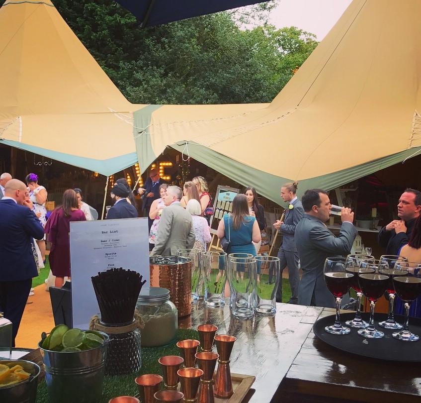 Wedding drinks reception in Essex