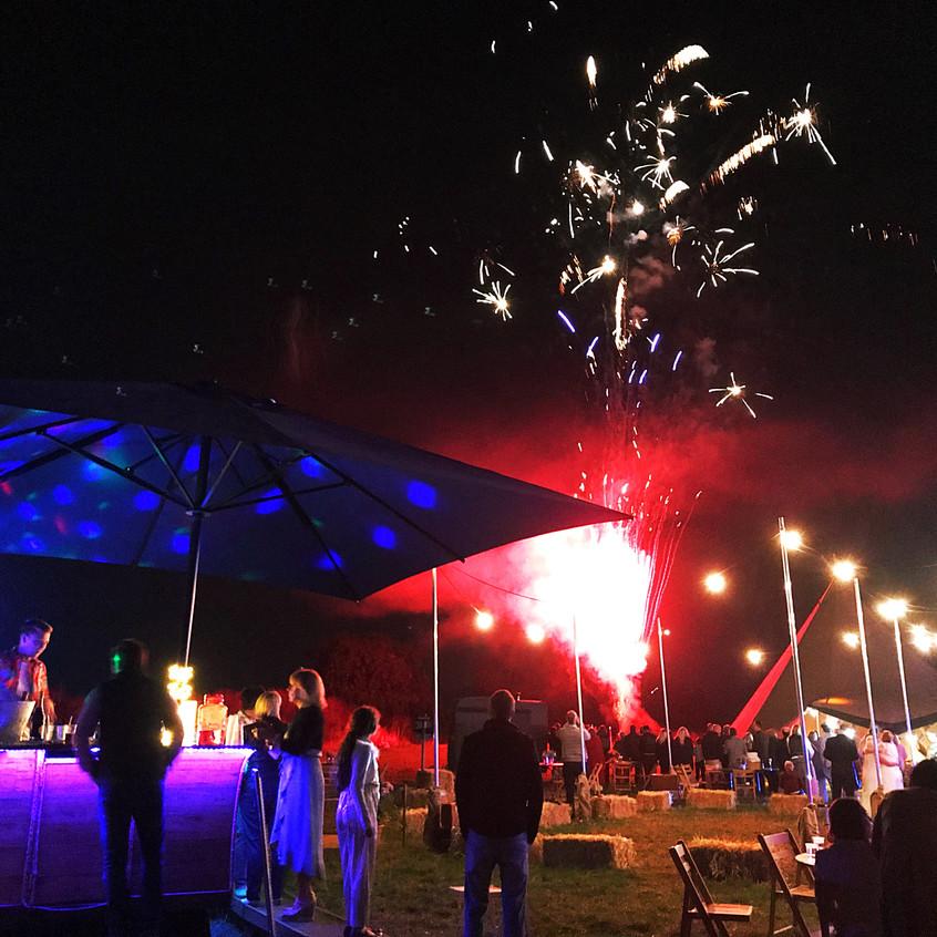 Fireworks & Chin Chin Caravan Bar