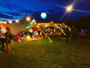 The Party Field Rustic Wedding | Chin Chin Bottoms Up Bar at Stephen & Jade's Festival Weddi