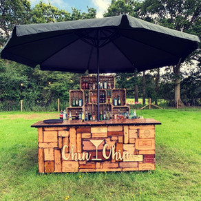 Tom & Ellie's Civil Partnership   Chin Chin Wine Box Bar at Little Oak Farm in West Sussex