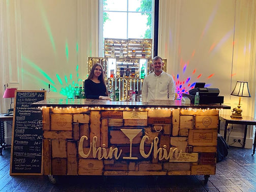 Chin Chin Mobile Wine Box Bar at Alexander & Eleanor's Wedding at Oxon Hoath Country Estat