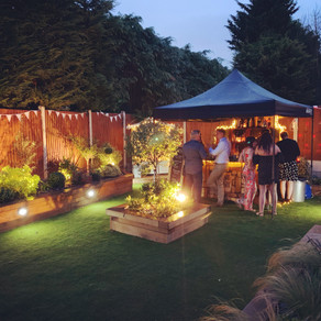 Essex Garden Party | Chin Chin Wine Box Bar at Lee & Paula's Wedding Anniversary Party