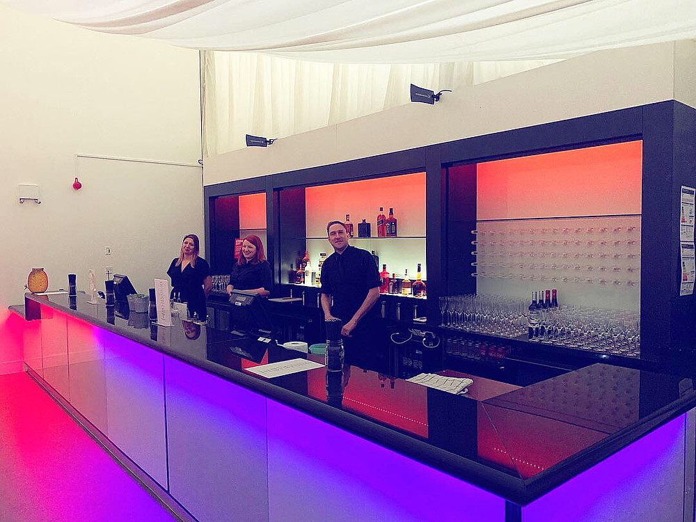Chin Chin Mobile Bars at a Spring wedding in the Grand Pavilion at Hylands House in Chelmsford, Essex