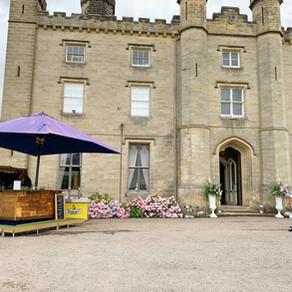 Kent Castle Wedding | Chin Chin Caravan Bar at Tom & Lucy's Wedding Reception