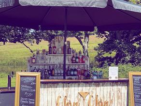 Duncan & Chloe's Boho Tipi Wedding   Chin Chin Driftwood Bar at Knepp Castle Estate   West Sussex