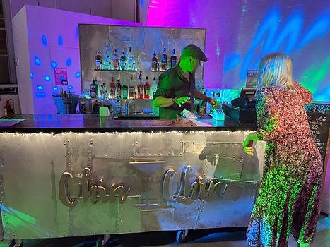 Chin Chin Tin Cup Bar at Alex & MJ's City Wedding at Trinity Buoy Wharf in London.JPG