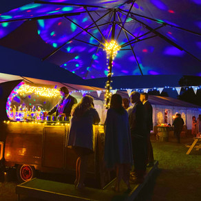 Spring Marquee Wedding | Chin Chin Caravan Bar at Jack & Lauren's Wedding in Chelmsford, Ess