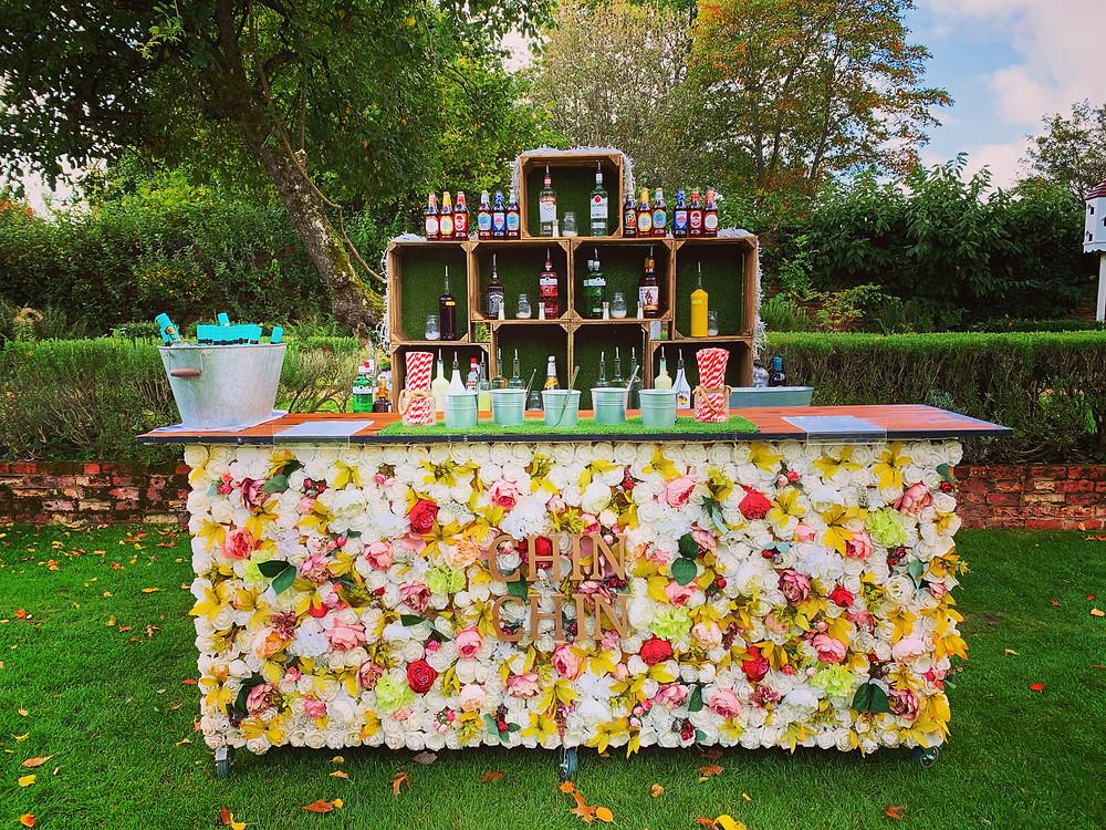 Chin Chin Bouquet Bar at David & Ashni's Wedding at Northbrook Park in Surrey