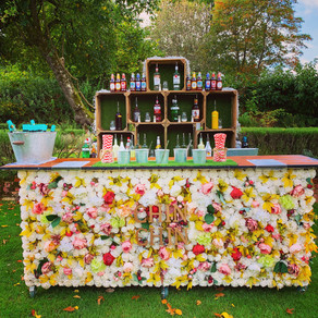 Northbrook Park Wedding | Chin Chin Bouquet Bar at David & Ashni's Autumn Wedding in Surrey