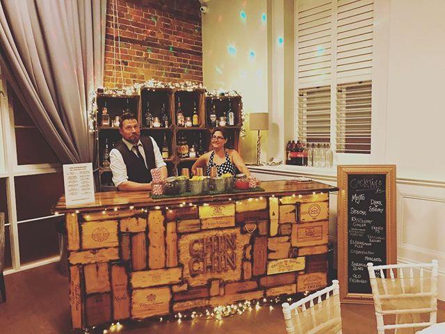 Chin Chin Wine Box Bar at Mick & Charlotte's wedding in Tunbridge Wells