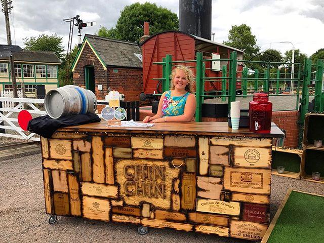 Molly behind the Wine Box Bar