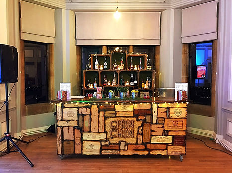 The Wine Box Bar at a 40th birthday part