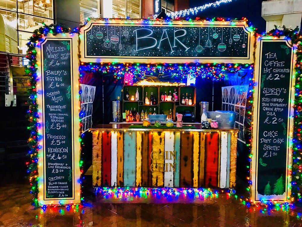 Chin Chin Mobile Bar at Bond Street Chelmsford outdoor Christmas ice rink 2018