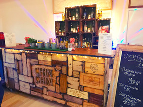 Winter Wedding in Rye | Chin Chin Wine Box Bar at Mike & Shay's Village Hall Wedding