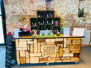 Anne of Cleves Barn Wedding | Chin Chin Wine Box Bar at Danny & Jade's Rustic Wedding in Bra