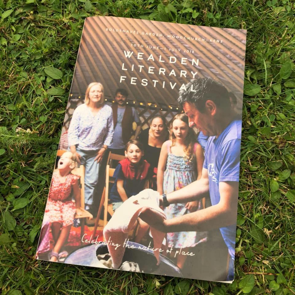 Chin Chin Caravan Bar at Wealden Literary Festival in Woodchurch, Kent