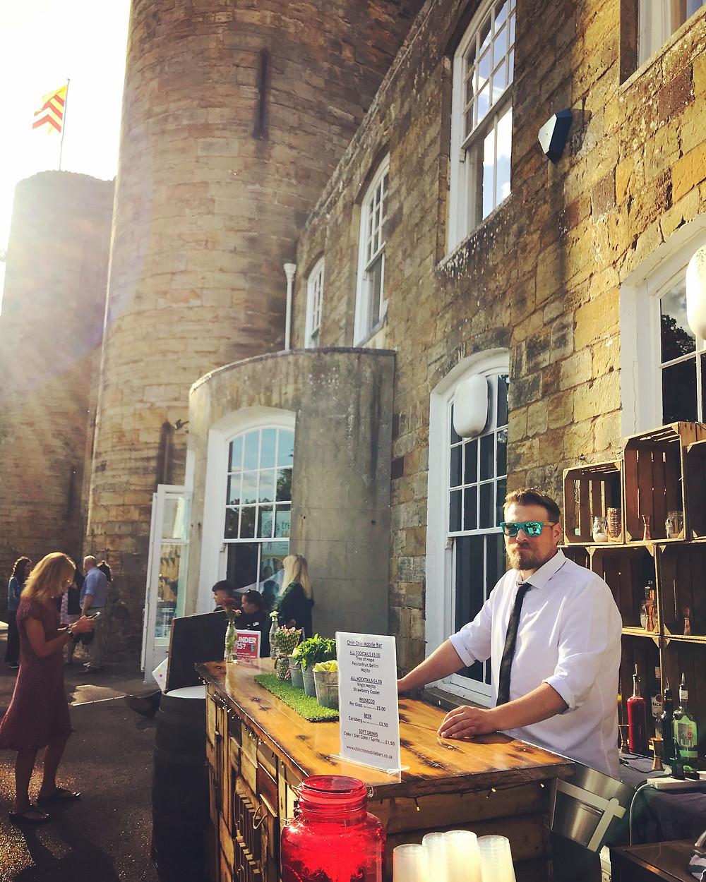 Chin Chin Wine Box Bar at Tree of Hope Charity Summer Party at Tonbridge Castle
