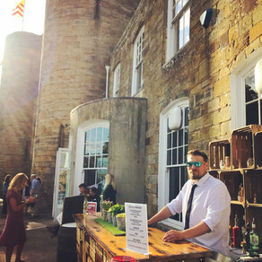 Chin Chin Wine Box Bar at Tree of Hope Charity Summer Party at Tonbridge Castle, Kent