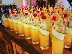 Spring Village Hall Wedding | Chin Chin Wine Box Bar at Ewan & Jenny's Wedding Reception at