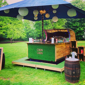 Spring Wedding Cocktails | Chin Chin Caravan Bar at Christopher & Samantha's Gilwell Park We