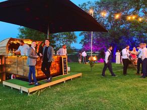 Farm Wedding in Essex | Chin Chin Caravan Bar at Scott & Romy's Barn Wedding in Hockley