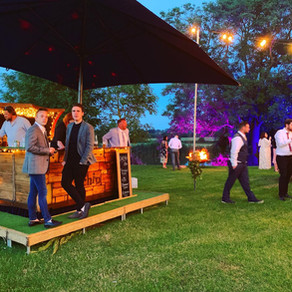 Farm Wedding in Essex | Chin Chin Caravan Bar at Scott & Romy's Barn Wedding in Hockley