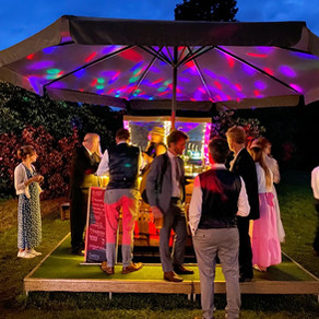 Jacob & Rachel's Woodland Wedding   Chin Chin Caravan Bar   The Manor Gardens Birling in Kent