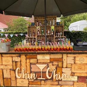 Tom & Elizabeth's Tipi Wedding   Chin Chin Wine Box Bar   East Grinstead
