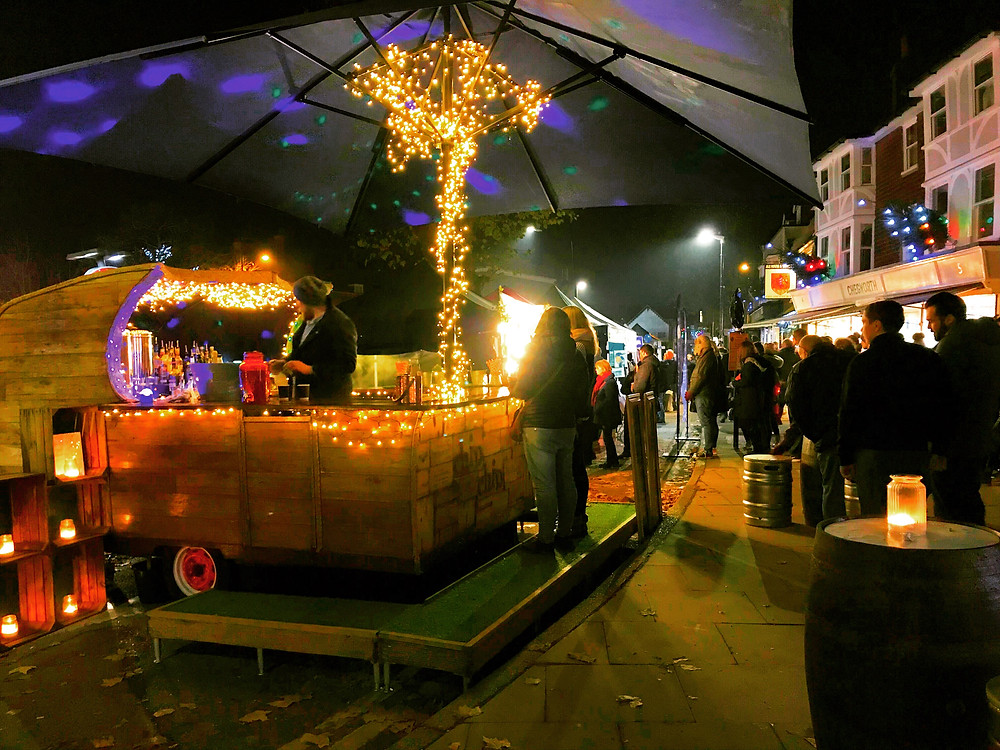 Chin Chin Caravan Bar at Tenterden Christmas Market 2018