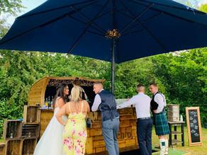 Kent Marquee Wedding | Chin Chin Caravan Bar at Adam & Lizzie's Wedding