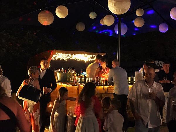 Chin Chin Caravan Bar at Andrew & Helen's Wedding at Lower Hardres Village Hall in Canterbury9