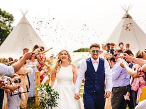 Festival Tipi Wedding | Abi & Greg's Wedding in Festival Brides Blog with Chin Chin Caravan
