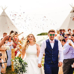 Festival Tipi Wedding | Abi & Greg's Wedding in Festival Brides Blog with Chin Chin Caravan