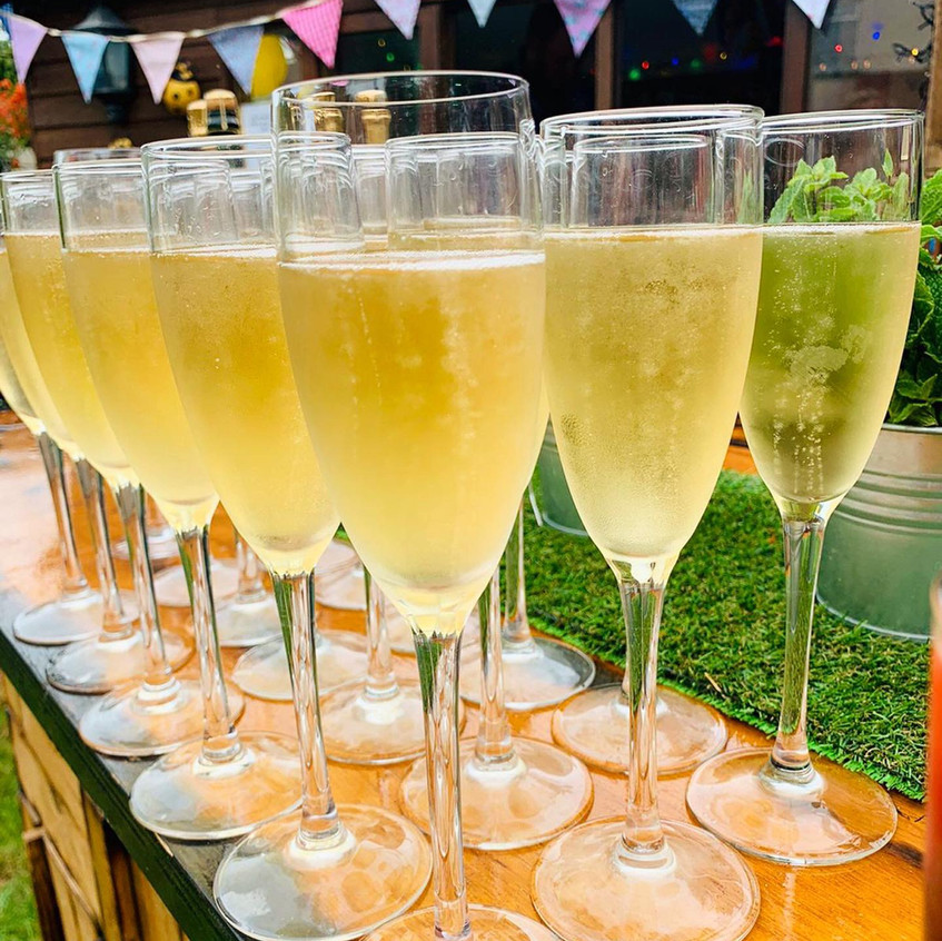 Champagne Welcome Drinks