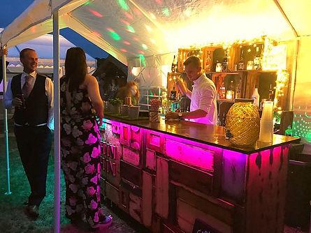 Chin Chin Wine Box Bar at Kent wedding