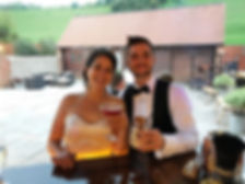 Chin Chin Caravan Bar at West Sussex wedding