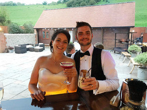 Chin Chin Caravan Bar at Long Furlong Barn Black Tie Wedding
