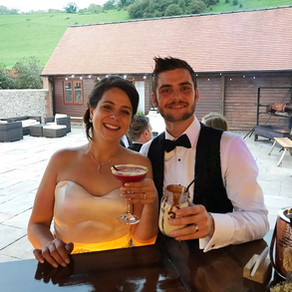 Chin Chin Caravan Bar at Long Furlong Barn Black Tie Wedding