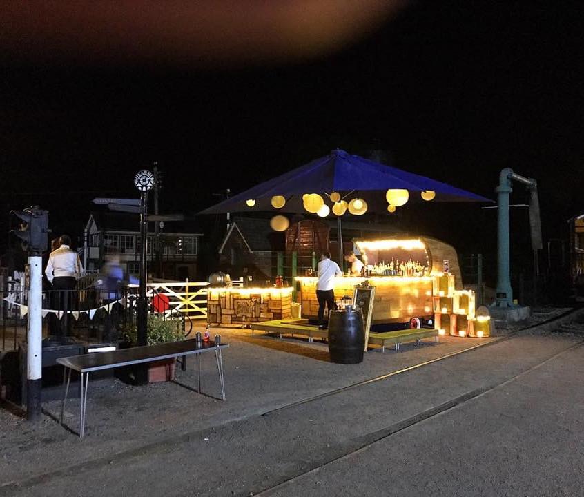 The Chin Chin Caravan Bar at night