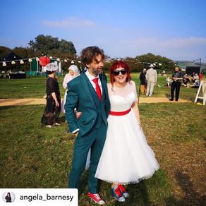 Matt & Angela's Festival Wedding   Chin Chin Caravan Bar   The Party Field in Lewes, East Sussex