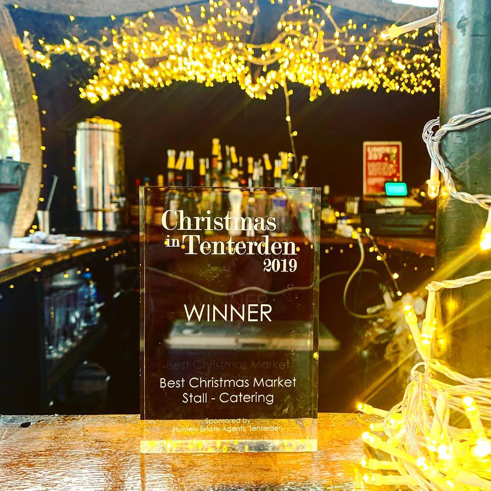 Chin Chin Mobile Bars Wins Best Christmas Market Stall - Catering at Christmas in Tenterden 2019
